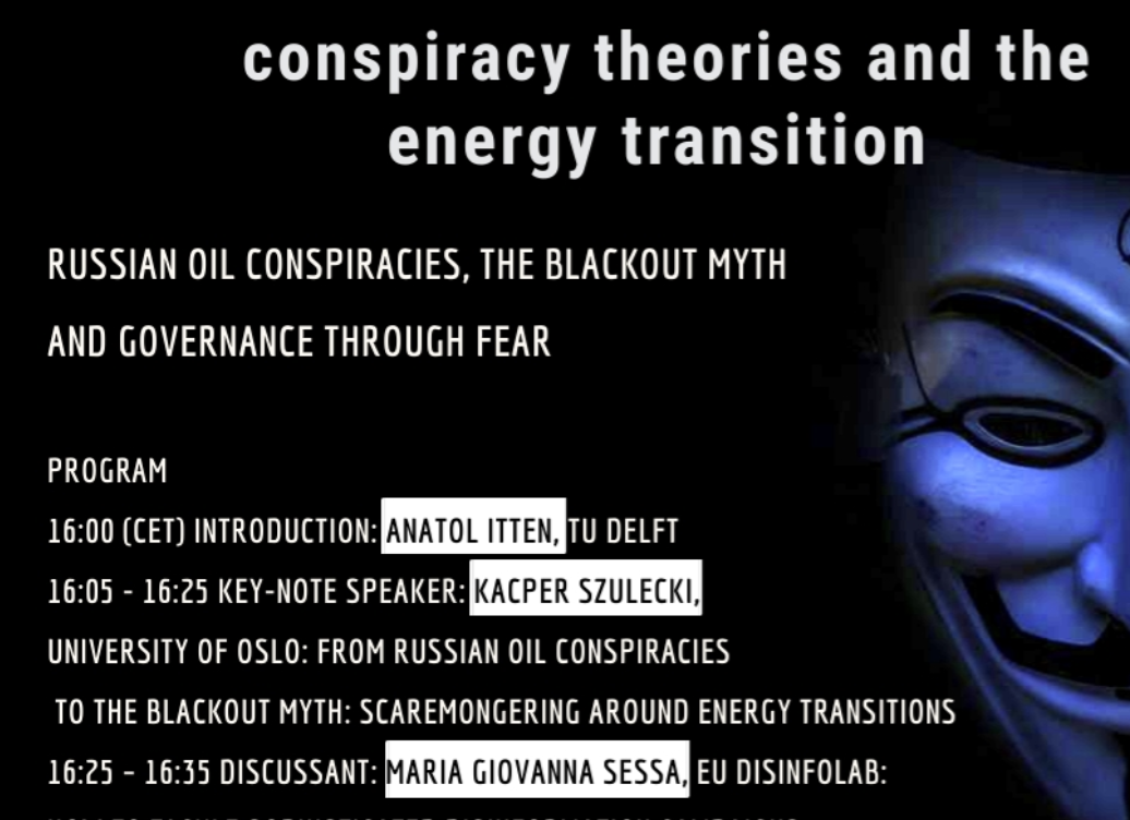 Conspiracy theories and the energy transition